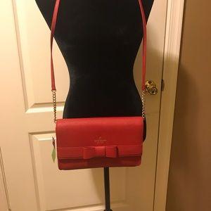 NWT Kate Spade red bow purse